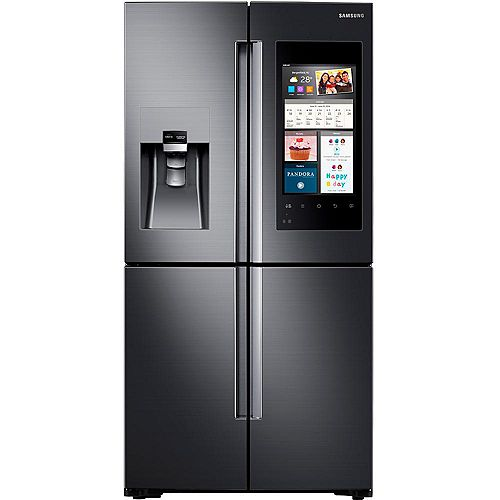 36-inch W 22 cu.ft. Smart French Door Refrigerator with Family Hub in Black Stainless Steel - ENERGY STAR®