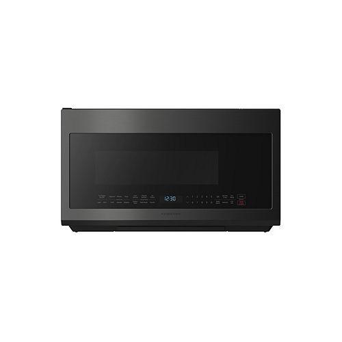 Four à micro-ondes de 2,1 pi3 en acier inoxydable noir résistant aux empreintes digitales avec cuisson à capteur