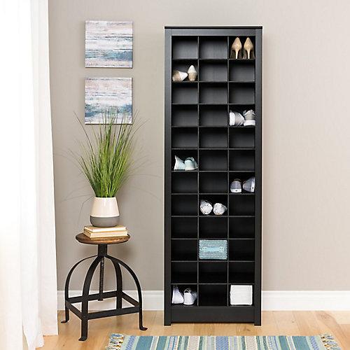 Armoire compacte pour chaussures, noire