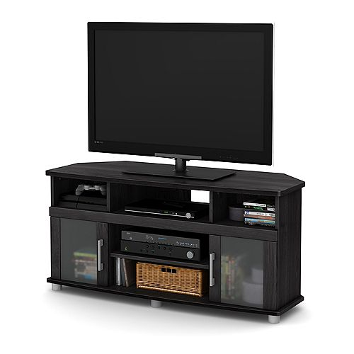 City Life Corner TV Stand, for TVs up to 50 inches, Gray Oak