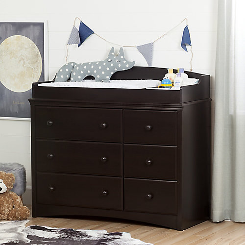Angel Changing Table/Dresser with 6 Drawers, Espresso
