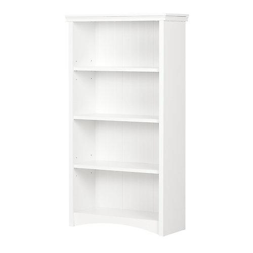 Artwork 4-Shelf Bookcase, Pure White
