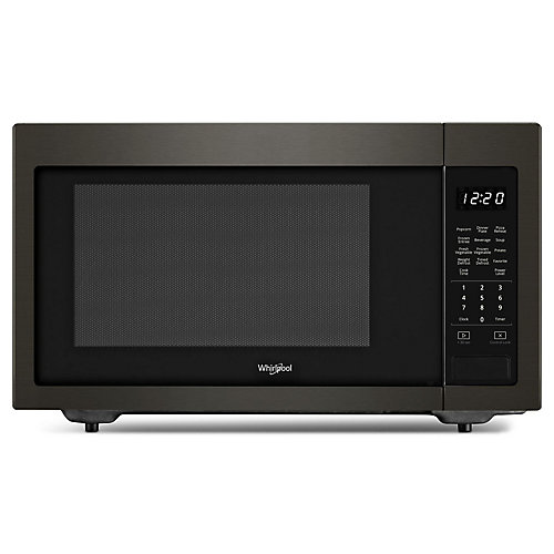 1.6 cu. ft. Countertop Microwave in Black Stainless Steel