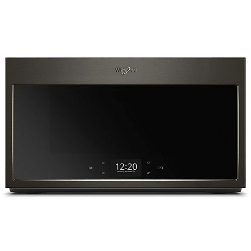 Whirlpool 1.9 cu. ft. Smart Over the Range Microwave in Black Stainless Steel