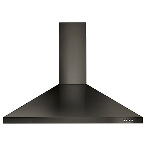 """36"""" Contemporary Black Stainless Steel Wall Mount Range Hood"""