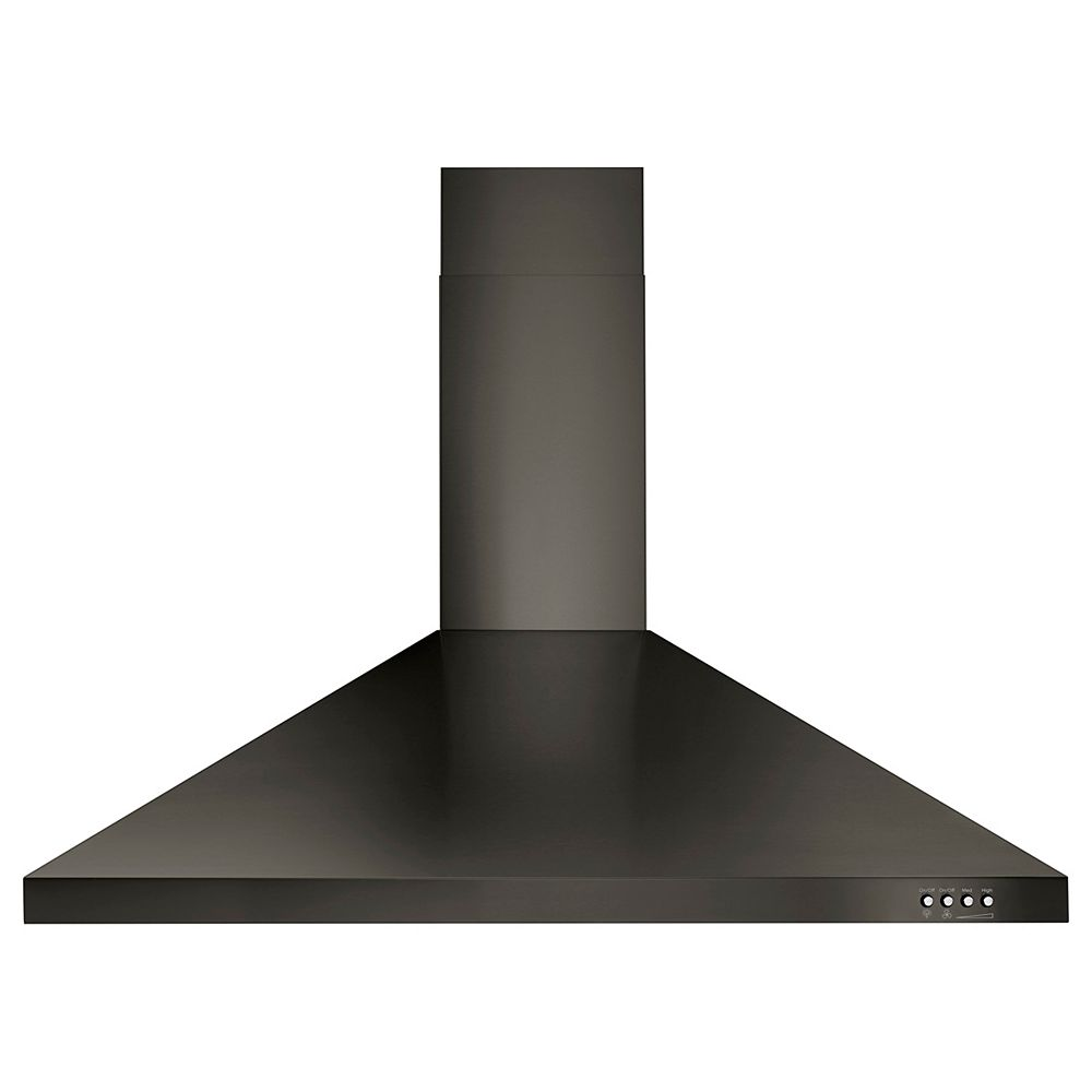 Whirlpool 36-inch Contemporary Black Stainless Wall Mount Range Hood in Black Stainless Steel