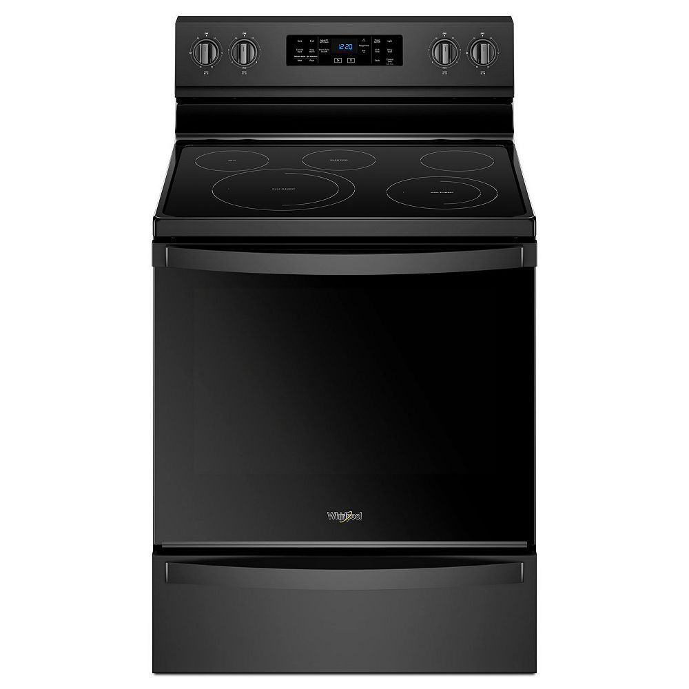 Whirlpool 6.4 cu. ft. Electric Range with Self-Cleaning Fan Convection Oven in Black