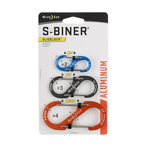 S-Biner SlideLock Aluminum (3-Pack)