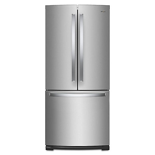 30-inch W 20 cu.ft. French Door Refrigerator in Fingerprint Resistant Stainless Steel