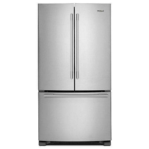 33-inch W 22 cu. ft. French Door Refrigerator in Fingerprint Resistant Stainless Steel - ENERGY STAR®