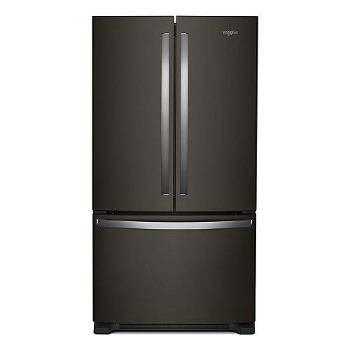 Whirlpool 36-inch W 25 cu. ft. French Door Refrigerator in Fingerprint Resistant Black Stainless Steel - ENERGY STAR®