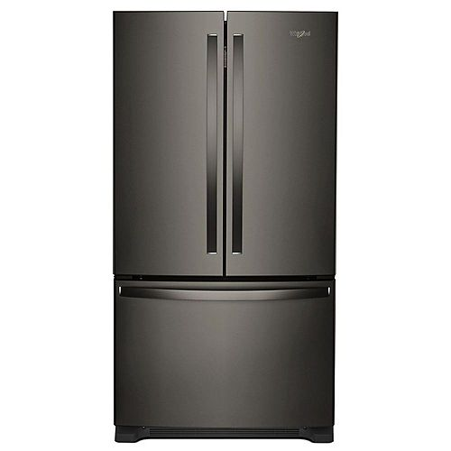 Whirlpool 36-inch W 20 cu. ft. French Door Refrigerator in Fingerprint Resistant Black Stainless Steel, Counter Depth - ENERGY STAR®