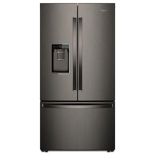Whirlpool 36-inch W 24 cu. ft. French Door Refrigerator in Black Stainless Steel, Counter Depth- ENERGY STAR®