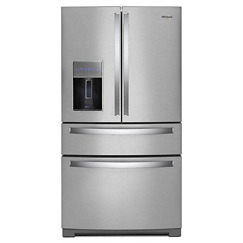36-inch W 26 cu. ft. 4-Door Refrigerator in Fingerprint Resistant Stainless Steel