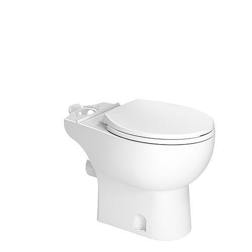 Bol de toilette rond blanc décharge arrière