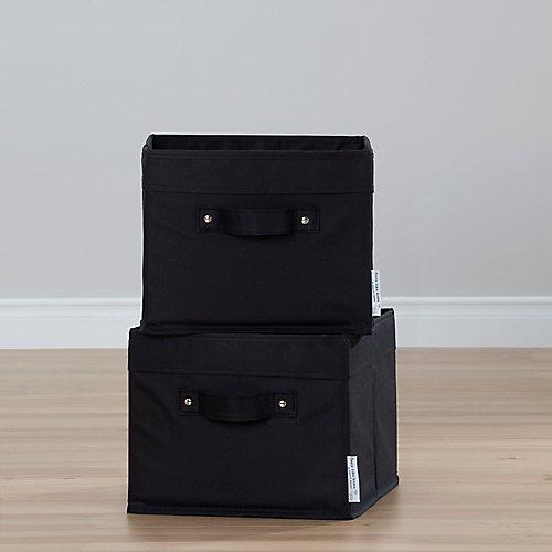 Storit Canvas Basket in Black (2-Pack)