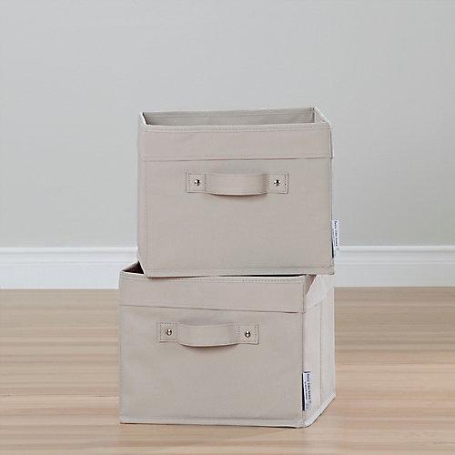 Storit Beige Canvas Baskets, (2-Pack)