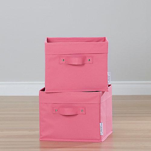 Storit Canvas Basket in Pink (2-Pack)