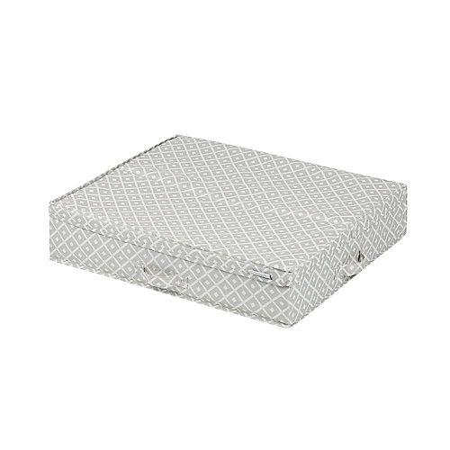 Boîte de rangement en toile sous le lit avec motifs Storit, Beige