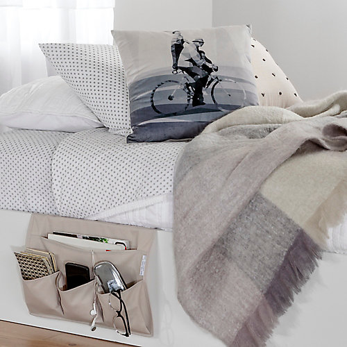 Storit Beige Canvas Bedside Storage Caddy