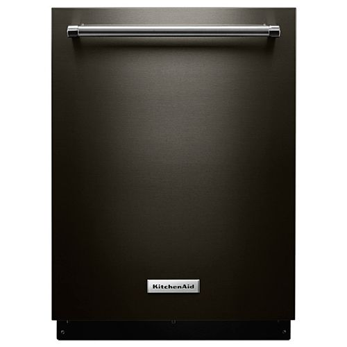 KitchenAid Top Control Dishwasher in Black Stainless Steel with Stainless Steel Tub, 46 dBA - ENERGY STAR®