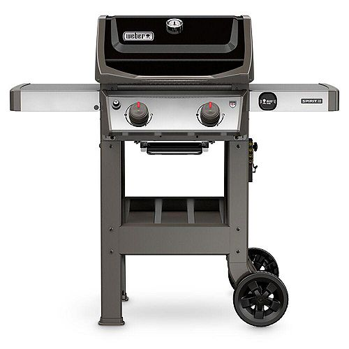 Spirit II E-210 2-Burner Propane BBQ in Black