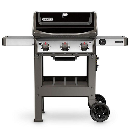 Spirit II E-310 3-Burner Propane BBQ Grill in Black