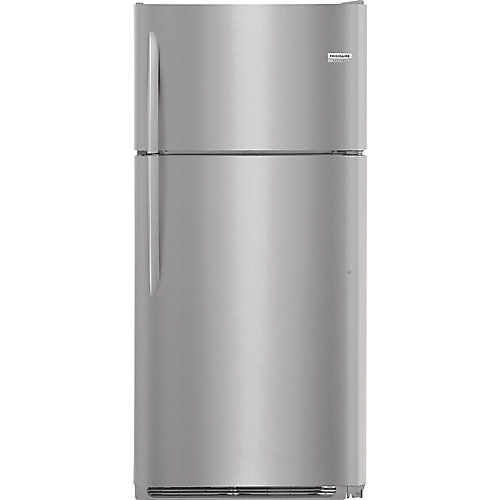 30-inch W 18 cu. ft. Top Freezer Refrigerator in Smudge Proof Stainless Steel