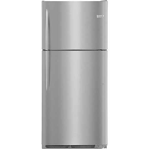 30-inch W 20 cu. ft. Top Freezer Refrigerator in Smudge Proof Stainless Steel