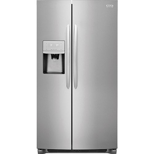 36-inch W 25.5 cu. ft. Side by Side Refrigerator in Stainless Steel