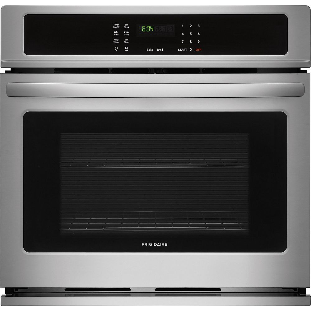 Frigidaire 30-inch Single Electric Wall Oven Self-Cleaning in Stainless Steel