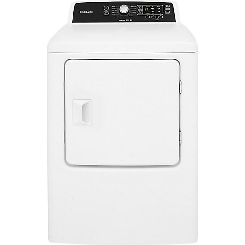 6.7 cu. ft. Electic Dryer in White