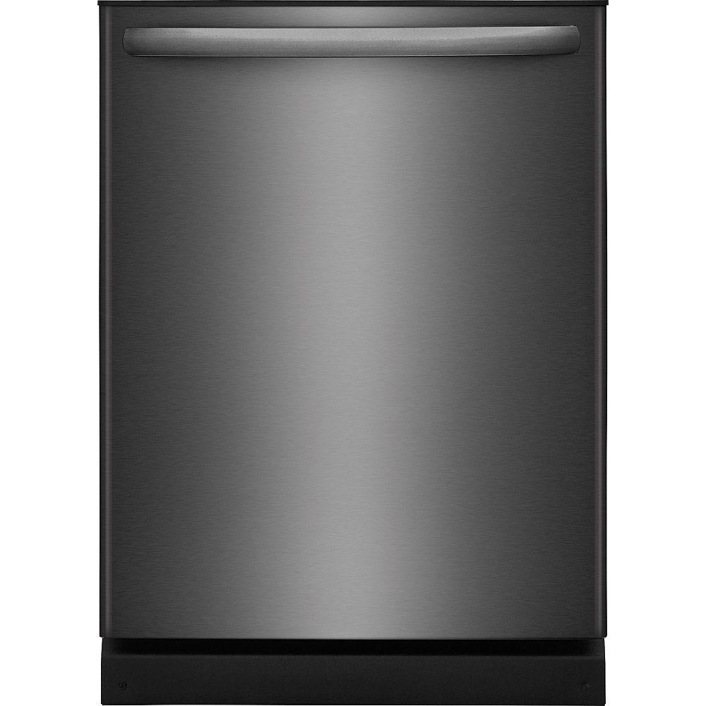 Frigidaire Lave-vaisselle avec cuve en polymère et bras gicleur OrbitClean, 24 po, acier inoxydable noir - ENERGY STAR®