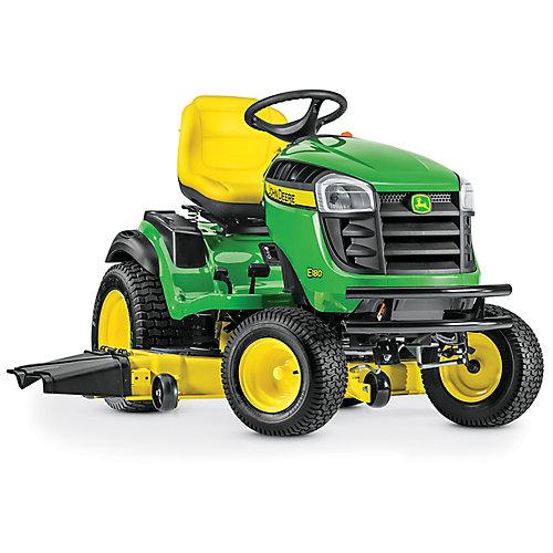 Tracteur de pelouseà essence avec transmission hydrostatique E180, 2cyl. 54 po, 25 HP