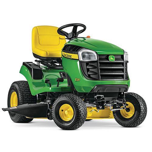 Tracteur de pelouseE120, transmission hydrostatique, corps 107cm (42po), essence, 20HP, 2cyl.