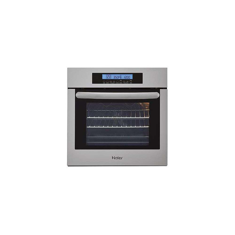 Haier 24-inch W Single Electric Wall Oven with Convection in Stainless Steel