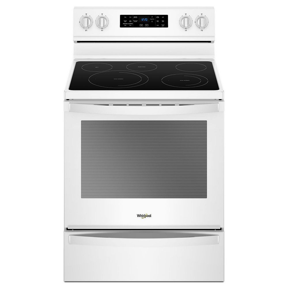 Whirlpool 6.4 cu. ft. Electric Range with Self-Cleaning Fan Convection Oven in White