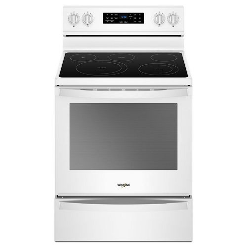 6.4 cu. ft. Electric Range with Self-Cleaning Fan Convection Oven in White