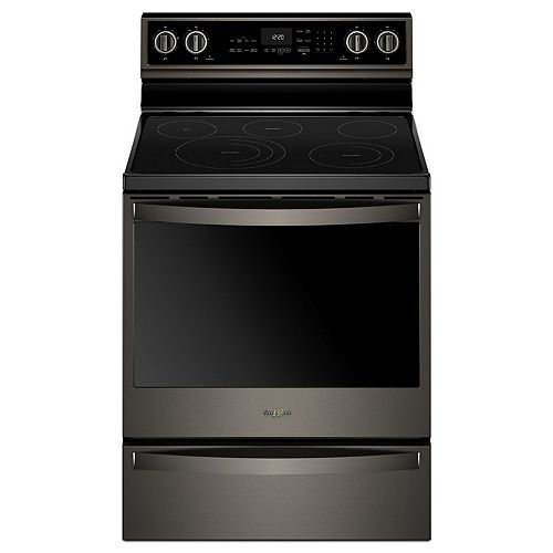 6.4 cu. ft. Smart Electric Range with Self-Cleaning Oven in Fingerprint Resistant Black Stainless Steel