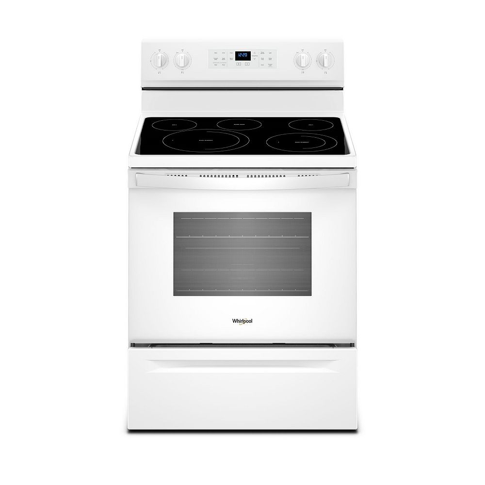 Whirlpool 5.3 cu.ft. Electric Range with Self-Cleaning Convection Oven in White