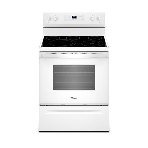 5.3 cu.ft. Electric Range with Self-Cleaning Convection Oven in White