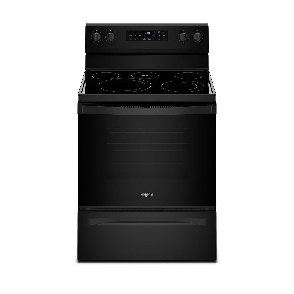 Whirlpool 5.3 cu.ft. Electric Range with Self-Cleaning Convection Oven in Black