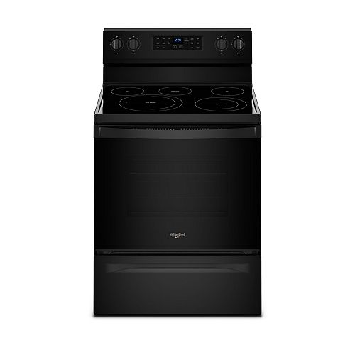 5.3 cu.ft. Electric Range with Self-Cleaning Convection Oven in Black