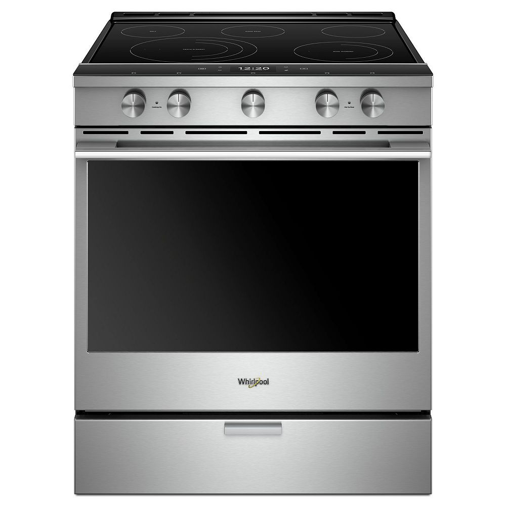 Whirlpool 6.4 cu. ft. Smart Slide-In Electric Range with Self-Cleaning Convection Oven in Fingerprint Resistant Stainless Steel