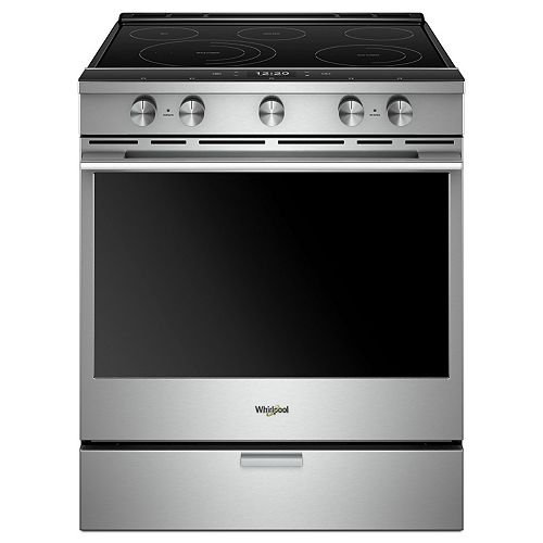 6.4 cu. ft. Smart Slide-In Electric Range with Self-Cleaning Convection Oven in Fingerprint Resistant Stainless Steel