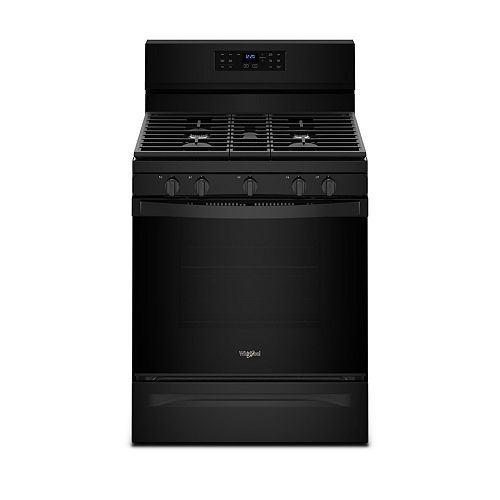 5.0 cu. ft. Gas Range with Fan Convection Oven in Black
