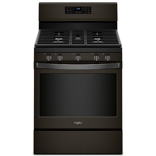 5.0 cu. ft. Gas Range with Fan Convection Oven in Fingerprint Resistant Black Stainless Steel