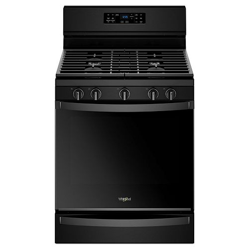 5.8 cu. ft. Gas Range with Self-Cleaning Convection Oven in Black