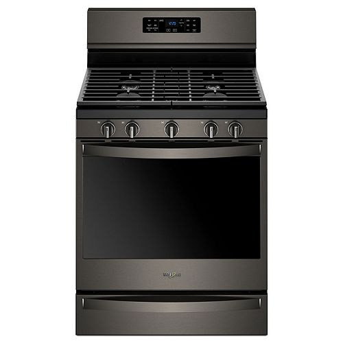 5.8 cu. ft. Gas Range with Self-Cleaning Convection Oven in Fingerprint Resistant Black Stainless Steel