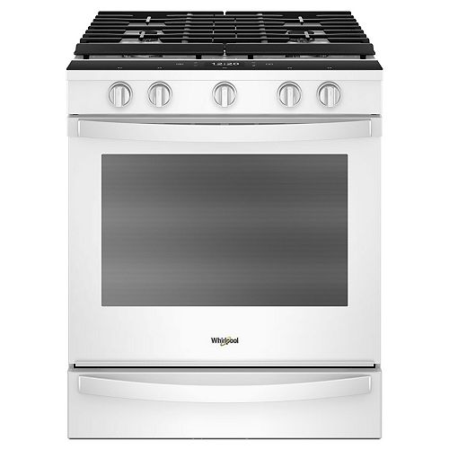 5.8 cu. ft. Smart Slide-In Gas Range with Convection Oven in White